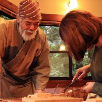 【仙人さんのお箸作り】屋久杉を削って箸作り体験♪<一泊二食付>※体験料別途必要※