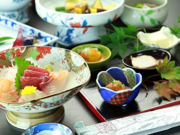 ◇グレードアップ◇季節の食材が彩る旬会席&緑と光に包まれた天然温泉~