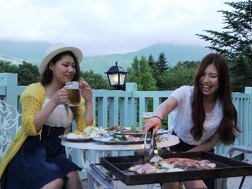 【夜のBBQ】夕食をバーベキュー♪<火おこし&道具貸出 無料>北志賀高原の自然を感じながら~1泊2食付