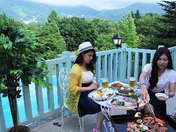 【昼のBBQ】昼食をバーベキュー♪<火おこし&道具貸出 無料>北志賀高原のさわやかな空の下で・・・1泊3食付