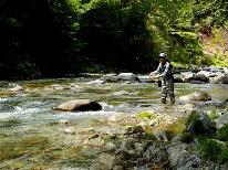 ★渓流釣り★遊漁券付★裏磐梯で渓流釣りを楽しもう!【1泊2食】