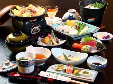 和風創作料理1泊2食付きプラン★季節の旬食材を中心に腕利きの料理人が精魂込めてお創り♪