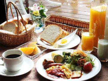 【朝食付】手作り 天然酵母パンのモーニングセット♪爽やかな安曇野の朝 爽快に出発~