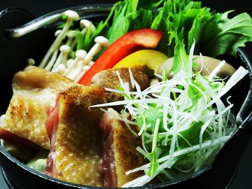【特選】ちょっと贅沢♪福島プライド!南郷トマトとコラボ会津地鶏鍋でほっこり♪