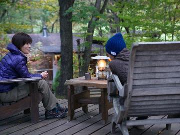【カップル・ご夫婦】ログハウスの別荘で過ごす2人だけの贅沢な時間♪~離れ・カナディアンレッド~