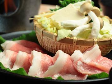 【1泊2食/竹コース】 忠治薬膳鍋のお肉倍盛り!ボリューム満足プラン♪