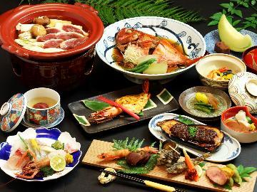 梅雨得◆6月限定で夕食時に嬉しいワンドリンク特典付☆【金目鯛×鴨鍋】四季彩膳 飛鳥~asuka~