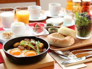 【1泊朝食付】 美味しい那須の食材がいっぱいでヘルシーな朝食!◆大人気の貸切り天然温泉が好評♪