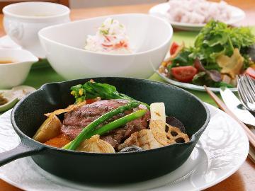 【悠-haruka-】とちぎ和牛サーロインステーキ、旬の那須高原野菜と一緒に◆贅沢に那須旅しよう