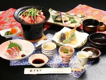 【旬彩ベーシックコース】ご夕食はベーシックなミニ会席。ひょうご北播磨紀行の常宿に