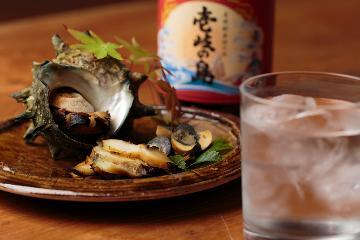 ≪壱岐の旨酒飲み比べ付1泊2食≫平山旅館おすすめの壱岐酒の飲み比べ お酒がすすむお料理と共に