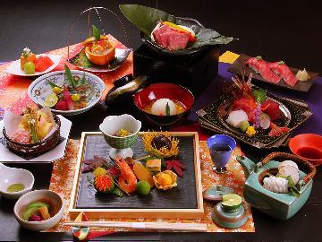 【~薫秋~】■秋のグレードアップ会席■松茸の土瓶蒸しと常陸牛のコラボ♪2食付