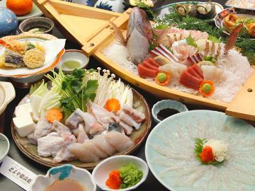 【冬の味覚☆いいとこ取り!】ふぐ料理×漁師のお宝膳