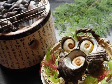 【春得】価格重視!リーズナブル旬会席〔さざえつぼ焼き&のどぐろ唐揚げ&鯛の煮付けなど〕
