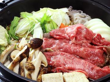【1年の内で10月だけ!限定プラン】香り・味を満喫しよう!贅沢☆松茸☆すき焼きコース!!