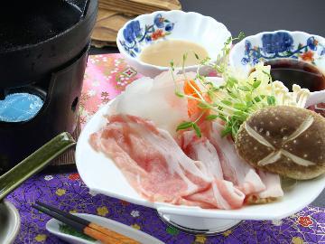 ◆那須豚しゃぶしゃぶ×湯西川温泉◆湯西川では唯一のペット専用の宿!わんちゃんと一緒に冬旅♪1泊2食付