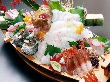 【大人気のため再登場!】鮮度抜群の舟盛「すずらん丸」がついてくる♪秋のおまかせ会席★+゜
