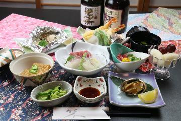 あんこう鍋と一口あわびで茨城の冬の味覚を堪能プラン