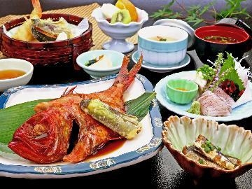 【2食付き】選べるご馳走割烹料理プラン◆国産霜降り豚しゃぶor金目鯛の煮付◆好きな方を選んでね♪