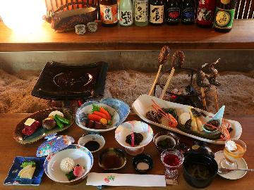 【1日1組限定】~囲炉裏端お食事処で~松乃井特別スタイル。飛騨いろり会席[1泊2食]《公式HP限定》