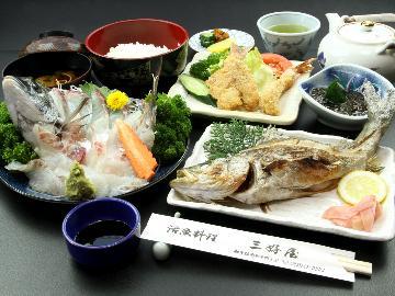 【三好屋御膳】地魚の姿造り付き♪平日は7,700円(税別)