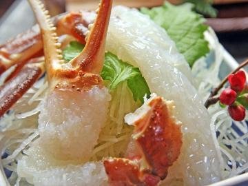 【冬虹♪タグ付地元活ガニ×贅沢★極★蟹フルコース】隆進最上級の蟹と天然温泉で至福のひとときを♪