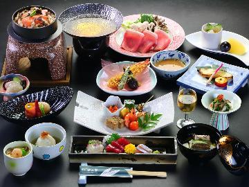 【旬の味覚】自慢の創作和会席を堪能♪旬の味覚を味わう笹乃家一番人気のプラン