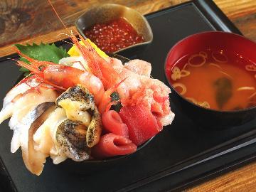 【2食付】「七のや海鮮丼」で新鮮美味な海の幸堪能☆プリプリ!新鮮!ボリューム満点で大満足★