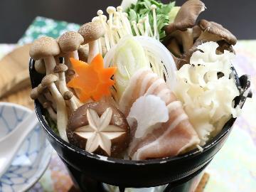 【冬季限定】あったか鍋は会津地鶏の鍋で決まり♪源泉かけ流しの温泉でほっこり冬を楽しもう![1泊2食付]