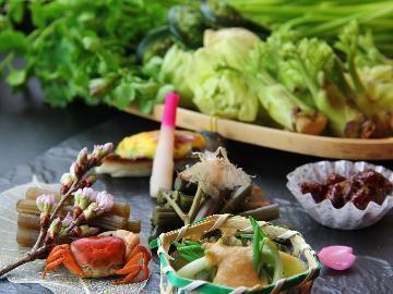 【春限定】深山の山菜をたっぷり堪能♪春の山の幸とのんびり温泉を楽しむ[1泊2食]