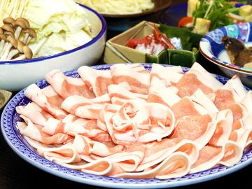 ≪豚肉200gも!≫お気軽に豚しゃぶを楽しむ♪プチ会席&豚しゃぶプラン[1泊2食付]