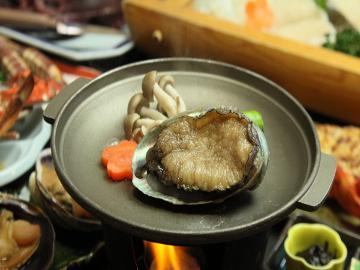 【人気NO,1】アワビのおどり焼き&海鮮コース☆満喫!日間賀島の味覚♪[1泊2食付]