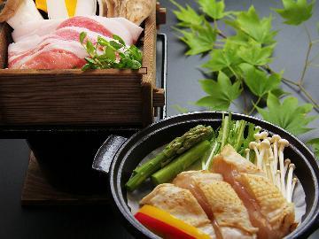 【ふくしまプライド。】会津地鶏・白河高原清流豚など福島県内ブランド肉の味わいプラン☆【森の温泉】