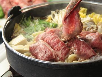 ☆戸隠高原ならではの食材を味わう贅沢♪すき焼き鍋プラン(1泊2食付)