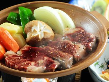 すき焼き・ステーキ・牛鍋 選べるメイン料理!上州牛グレードアッププラン【まんてん星の湯無料入浴券付】