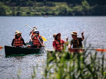 【カナディアンカヌー】カヌーで青木湖クルージング♪ お得なレジャーイベントセット ≪一泊二食≫