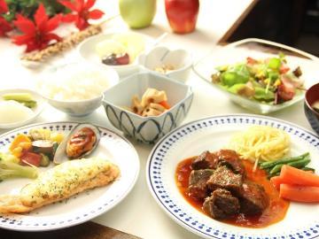 【スタンダード】 白馬満喫♪ 季節の食事グルメ ≪一泊二食≫