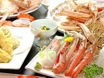 人気の天ぷら、焼きガニも食べたい!夕日ヶ浦温泉と欲張り満腹カニプラン~竹take~