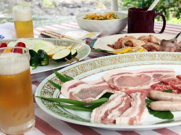 ≪BBQ&ログハウスにお泊まり≫のプチグランピング体験で夏を満喫♪お子様歓迎!【夜は選べる軽食付】