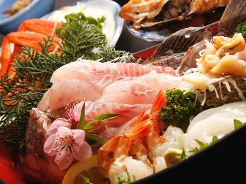 おなかいっぱい海幸を堪能♪旬の刺身盛り合わせ海鮮料理コース★
