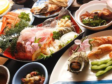 豪華海鮮!!地魚づくし!!海鮮料理満足コース★