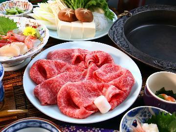 《GW限定》【贅沢会席~特選~】こだわりの福島牛を特製割下のすき焼きで…とろける味わいに舌鼓